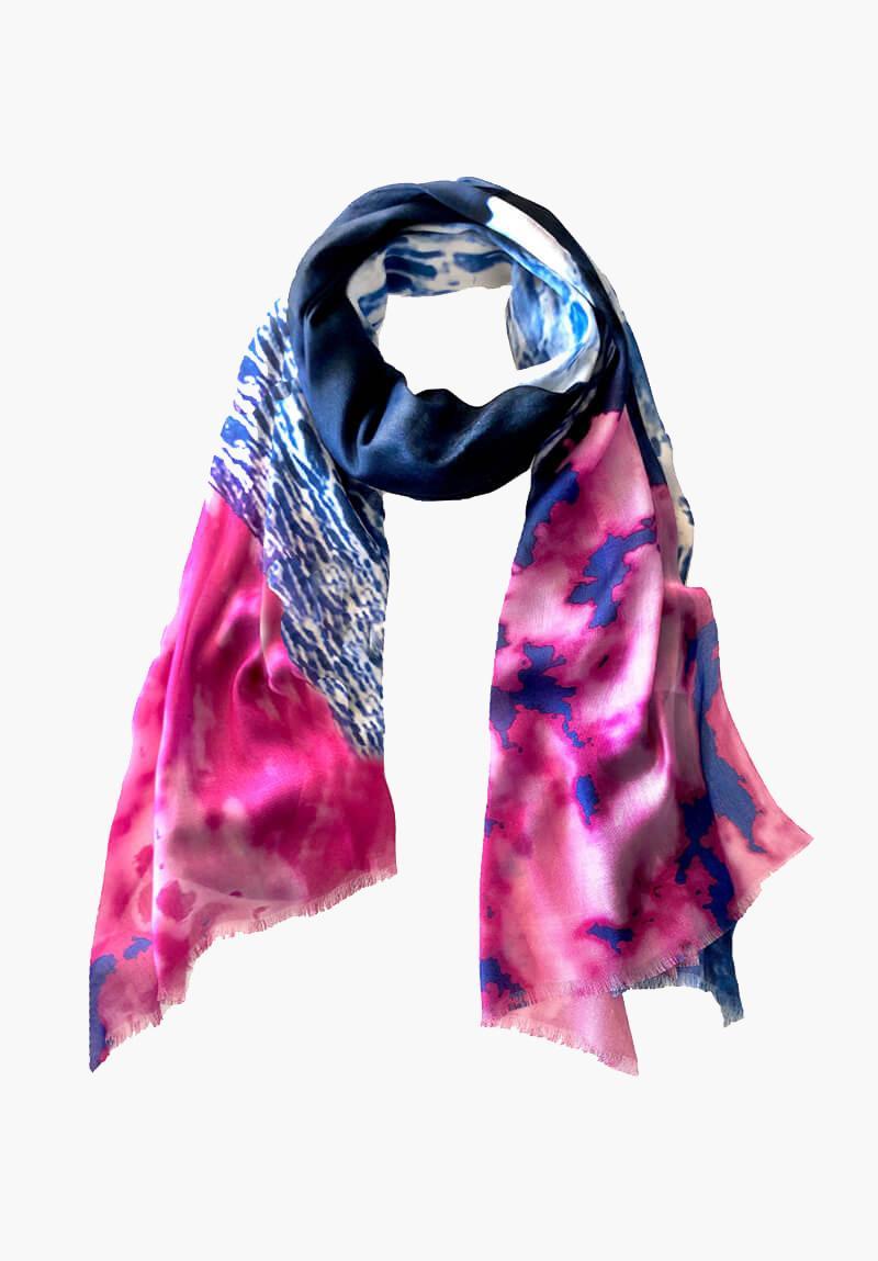 KDK beehive hut print scarf