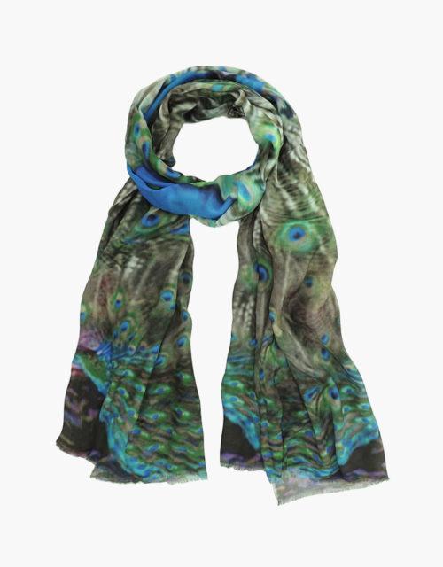 KDK peacock print scarf