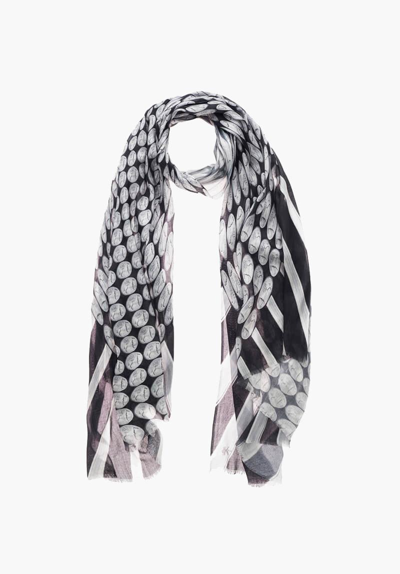 KDK monochrome coin scarf