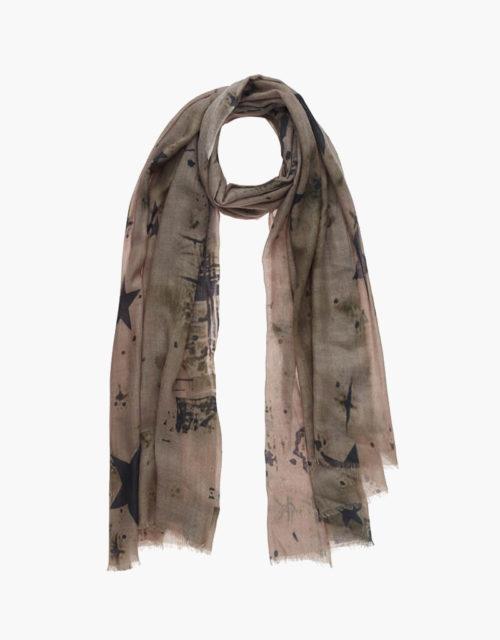 KDK star print scarf