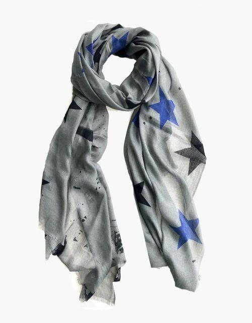 KDK grey star scarf